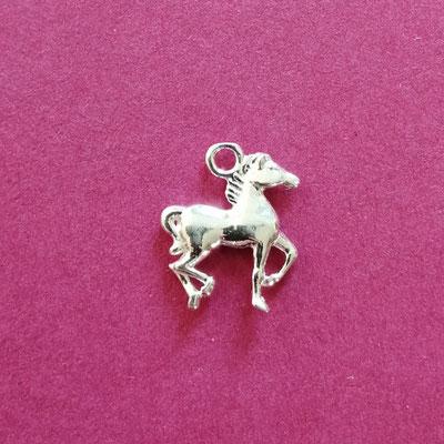 Pfered, Sterling Silber, 14 mm