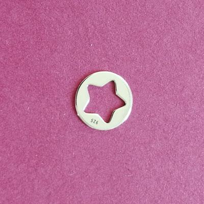 Stern, Sterling Silber, 10 mm