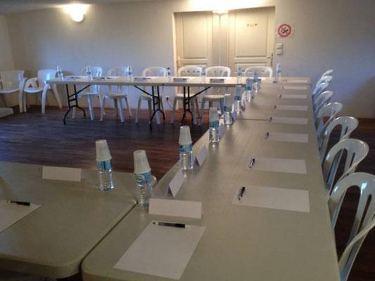 Salle de réunion aux Grandes Mollières