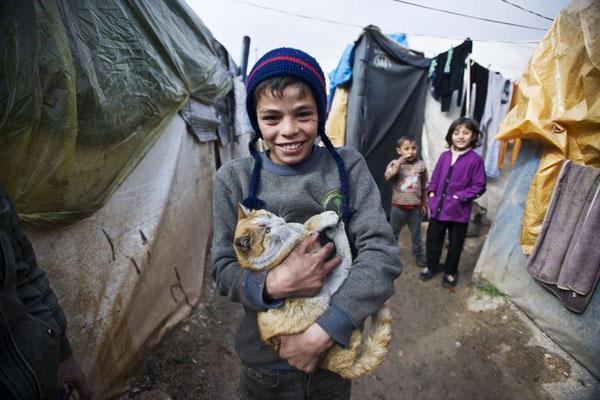 Die türkische Hilfsorganisation IHH hat das provisorische Zeltlager errichtet. © Kerem Kocalar/Anadolu Agency/Getty Images