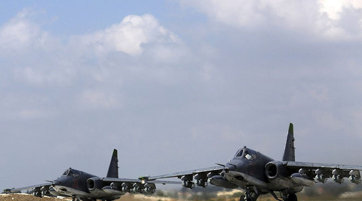 Russische Kampfbomber