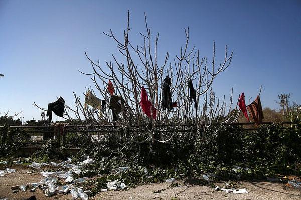 Vom alten Flughafen starten längst keine Flugzeuge mehr. Auch er ist zu einer Notunterkunft für Flüchtlinge geworden. © Yorgos Karahalis/AP/dpa