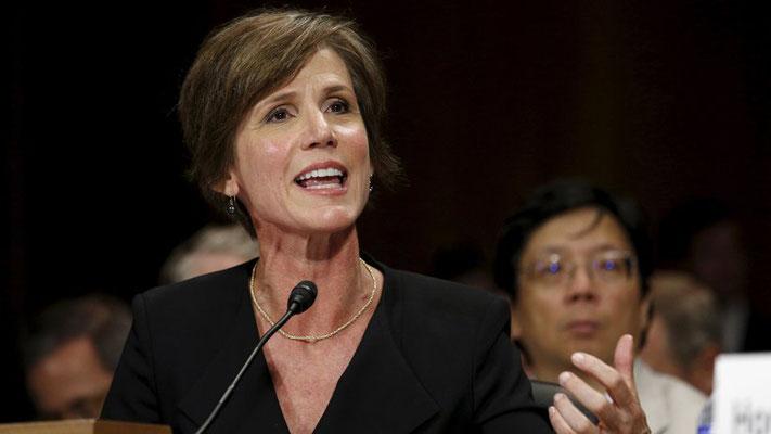 Die Interimsjustizministerin Sally Yates setzt ein Zeichen gegen Donald Trump. © Kevin Lamarque/Reuters