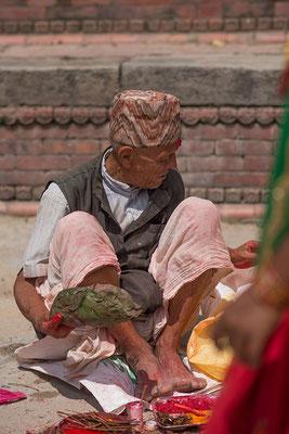 Mann in Kathmandu
