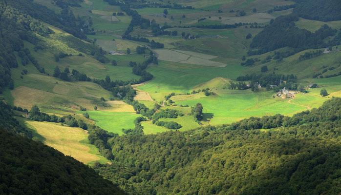 Tal in der Auvergne, Département Cantal