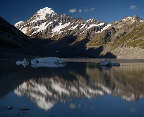 Mount Cook und Hooker Lake