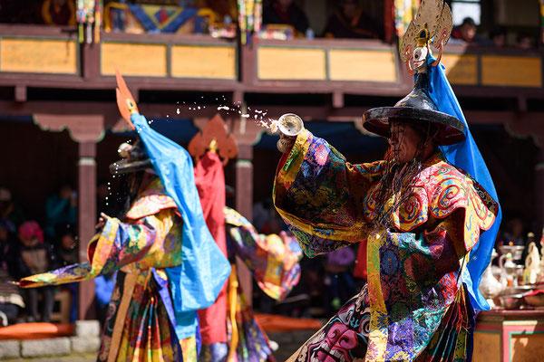 Mönchstanz beim Mani Rimdu Festival in Tengboche