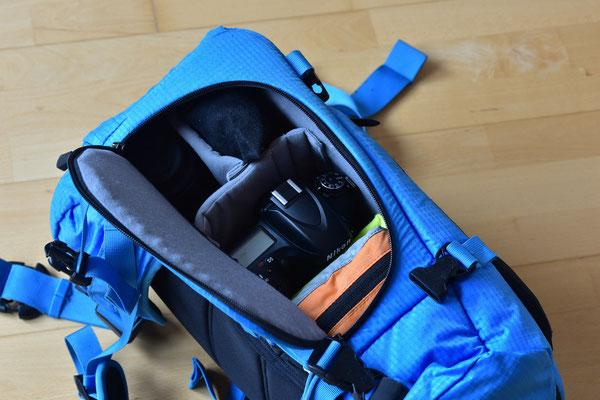 Seitentasche 2 mit Filtern (in Weichtasche), D600, 18-35mm, Ersatzakkus und Blasebalg