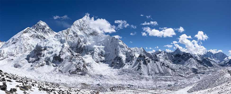 Panorama vom Kalar Pattar mit Mount Everest