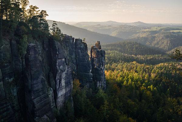Brosinnadel an den Affensteinen im Elbsandsteingebirge