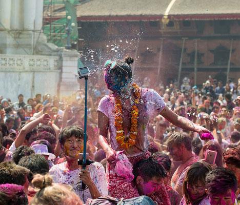 Holi Festival am Durbar Square, Kathmandu