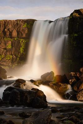 Der künstlich angelegte Öxarafoss, der die Thingversammlung mit Wasser versorgen sollte