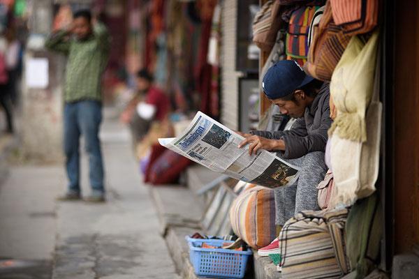 Straßenhändler in Thamel