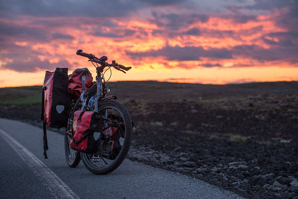 Rad am 4.7. kurz vor Sonnenaufgang
