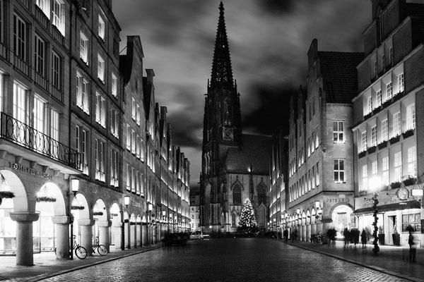 Münster, Prinzipalmarkt und Lamberti-Kirche