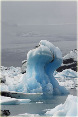 Eisberg in der Lagune Jökulsarlon