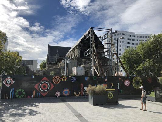 vom Erdbeben 2011 zerstörte Kathedrale