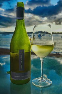 ein gutes Glas neuseeländischer Weißwein an der Promenade...hmmmm