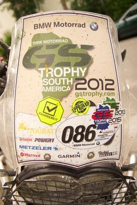 meine Startnummer 86 auf der originalen South America Trophy GS