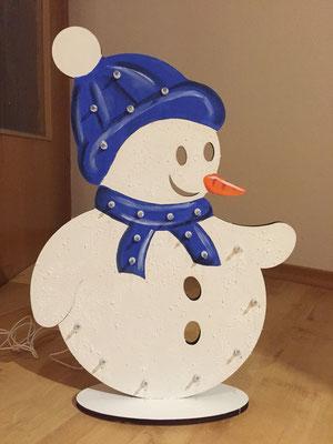 Schneemann mit Schal Lampe