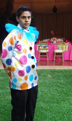 xv años cumpleaños tematico circo fiesta diversion payasos quinceañera textiles mutti