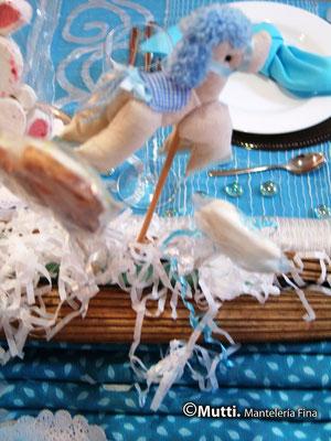 baby shower montaje para mesa de regalos