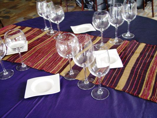 camino de mesa ambrosia banquetes blancos mutti