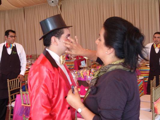xv años cumpleaños tematico circo fiesta diversion maquillaje quinceañera textiles mutti
