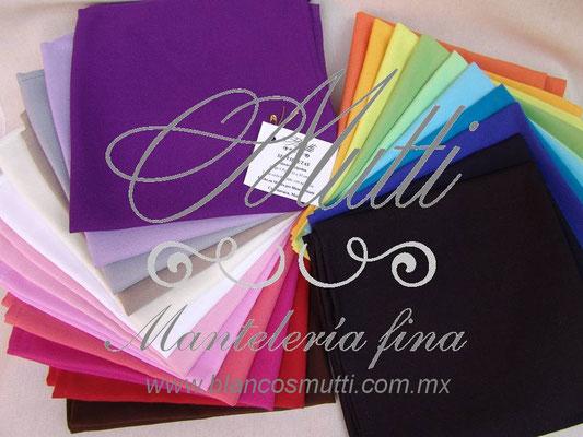 servilletas paleta de colores manteleria fina