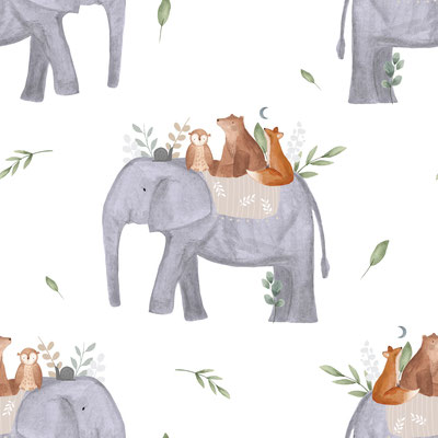 Elefantenreise Weiß