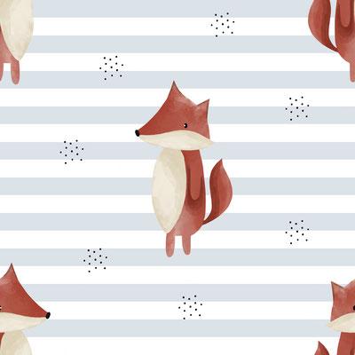 Stripy Fox Hellblau