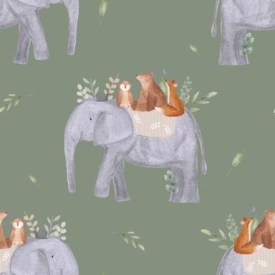 Elefantenreise Khaki