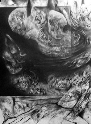 Bad Timing II/fusain sur papier/65x50cm/2017