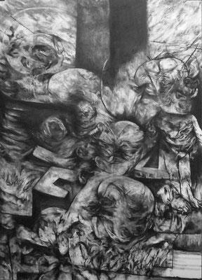 L'Ancre/fusain sur papier/100x70cm/2015