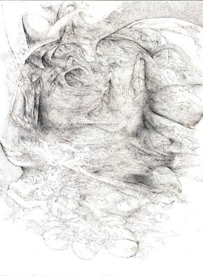 Forteresses III/mine de plomb sur papier/42x29,7cm/2016