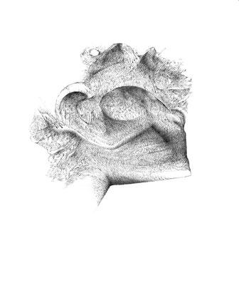 Nunc#04/mine de plomb sur papier/21x25cm/2017
