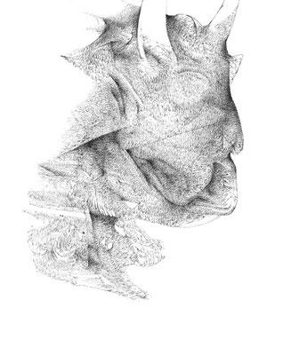 Nunc#06/mine de plomb sur papier/21x25cm/2017