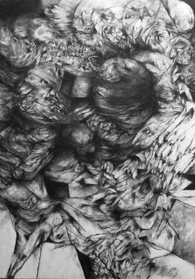 Inversion/fusain sur papier/100x70cm/2015