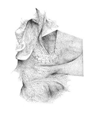 Nunc#08/mine de plomb sur papier/21x25cm/2017