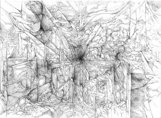 La Chambre/mine de plomb sur papier/29,7x42cm/2016