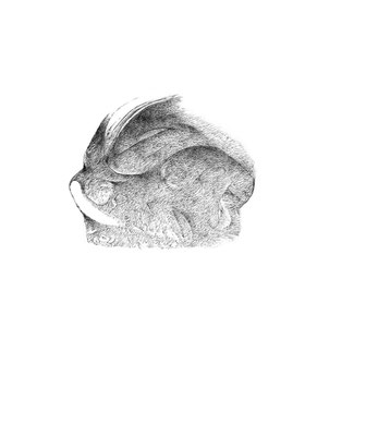 Nunc#01/mine de plomb sur papier/21x25cm/2017