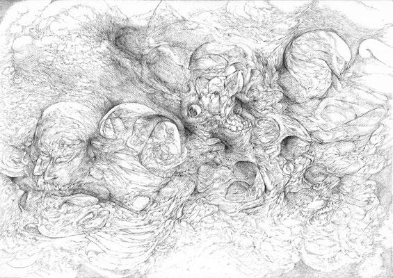 En Rêve/mine de plomb sur papier/29,7x42cm/2016