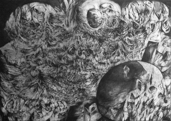 Seduction/fusain sur papier/70x100cm/2016