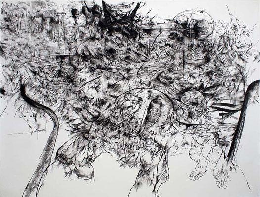 Saxifrage II/fusain sur papier/150x200cm/2017