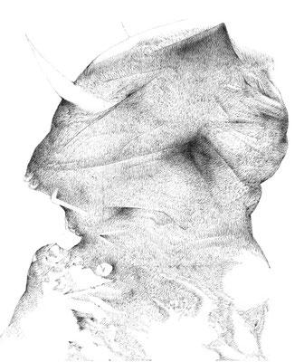 Nunc#12/mine de plomb sur papier/21x25cm/2017