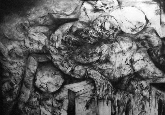 Le Reflet/fusain sur papier/70x100cm/2015