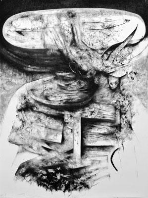 Un Autre Age / fusain sur papier / 200x150cm / 2017