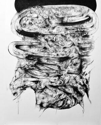 Au Seuil du Vide / fusain sur papier / 200x150cm / 2017