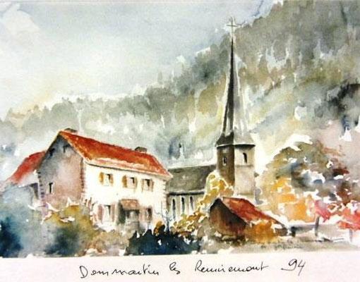 761- Dommartin-les- Remiremont, depuis mon balcon