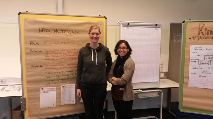 Anni Kolwes und Sandra Vacca von EGP e.V.